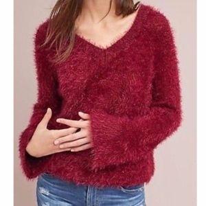 ANTHROPOLOGIE eyelash sweater/NWT/L